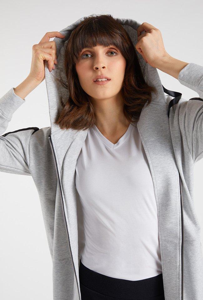 Rozpinana bluza dresowa z kapturem
