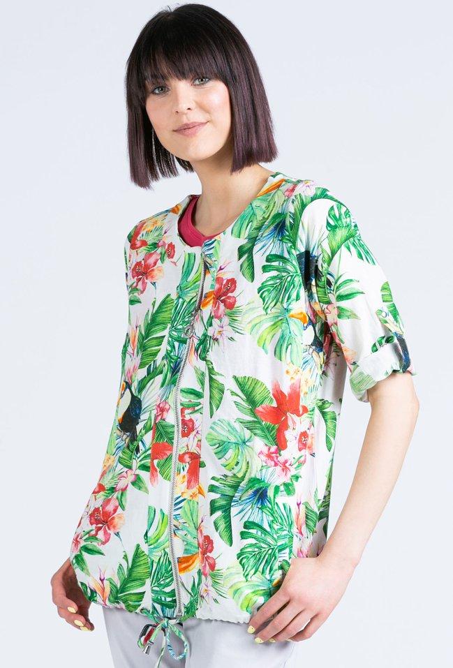 Bluza w tropikalny wzór